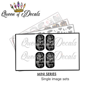 Custom Scan decal  (baby shower) - Mini Series
