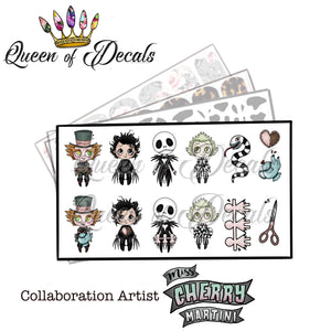 OFFICIAL Miss Cherry Martini/Queen of decals collaboration 'SPOOKS'