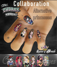 Load image into Gallery viewer, OFFICIAL Miss Cherry Martini/Queen of decals collaboration 'ALTERNATIVE PRINCESSES '