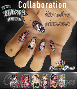 OFFICIAL Miss Cherry Martini/Queen of decals collaboration 'ALTERNATIVE PRINCESSES '
