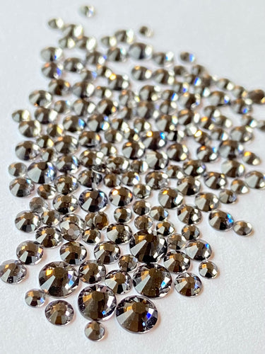 Black Diamond Crystal Nail Gems (mixed sizes x150)
