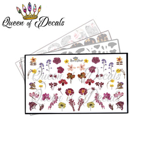 Pressed Wild Flowers decal