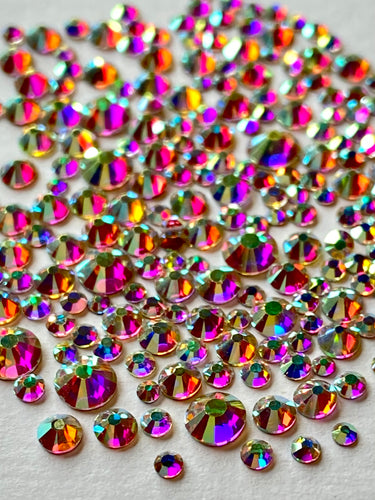 Crystal AB Crystal Nail Gems (mixed sizes x295)