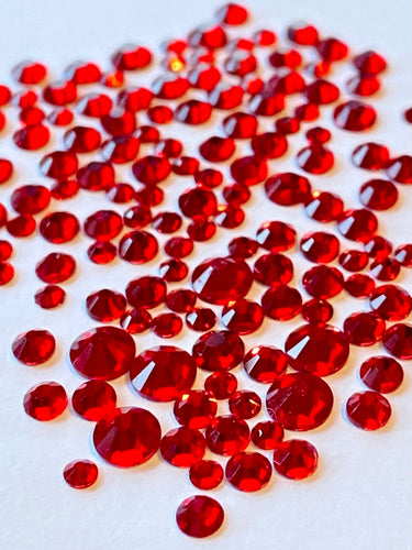 Siam Crystal Nail Gems (mixed sizes x150)