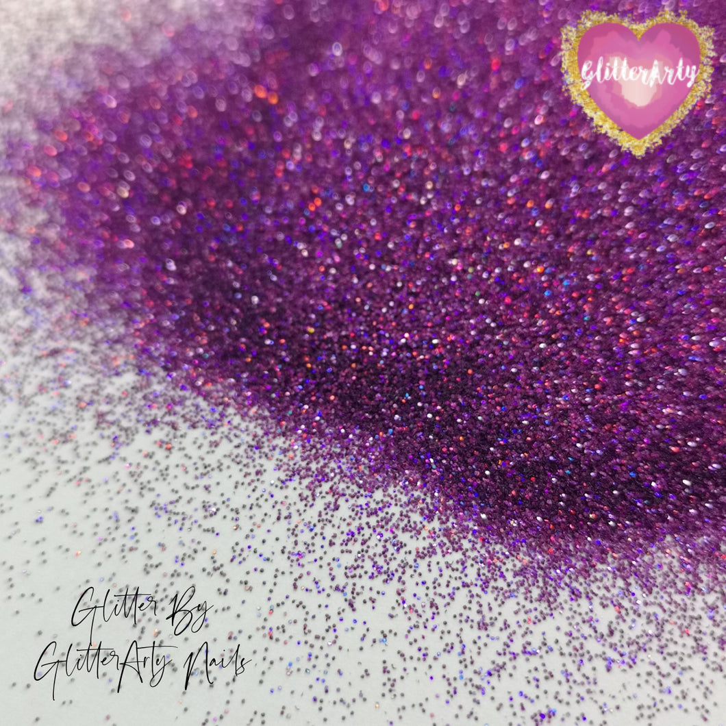 008 HOLOGRAPHIC PURPLE NAIL GLITTER ** 5G BAG