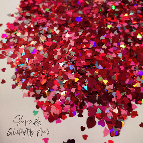 NAIL GLITTER HEARTS MIXED SIZE – THAT'S LOVE ** 5ML