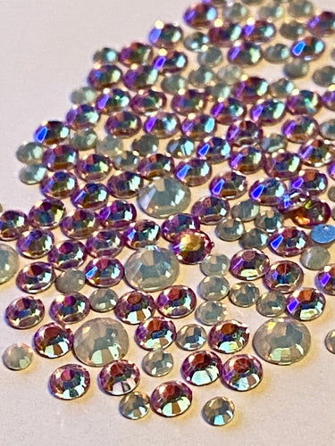 Pearl & Violet AB Mix Crystal Nail Gems (mixed sizes x145)
