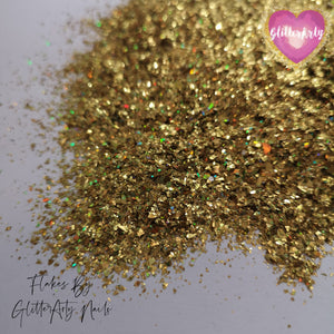 MINI SHARDS HOLOGRAPHIC GOLD ** 5G BAG **