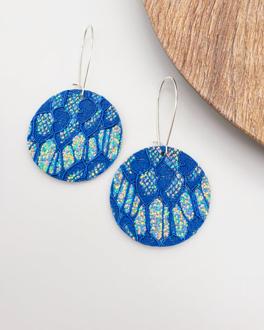 FALL in Love Glitter Lace Disc Drop Earrings