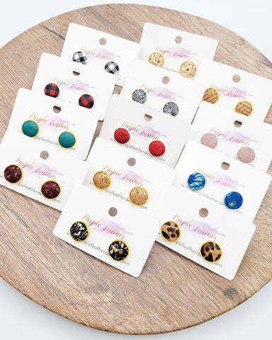 Restocked Leather Stud Earrings