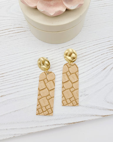 Sand Stone Bar Earrings
