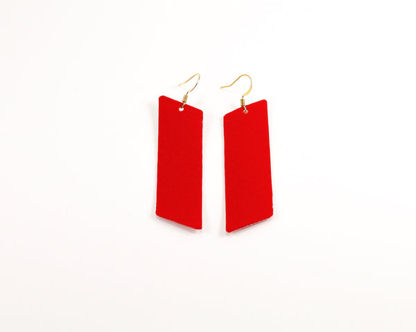 Firecracker Red Bar Earrings