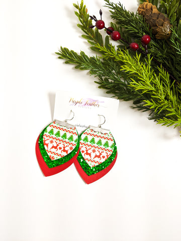Ugly Christmas Sweater Earrings