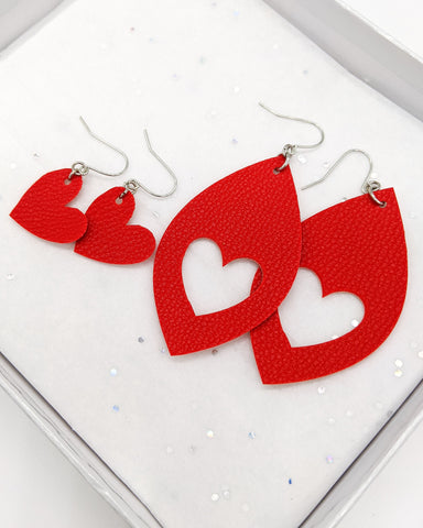 Mom & Me Valentine Cut-Out Earrings