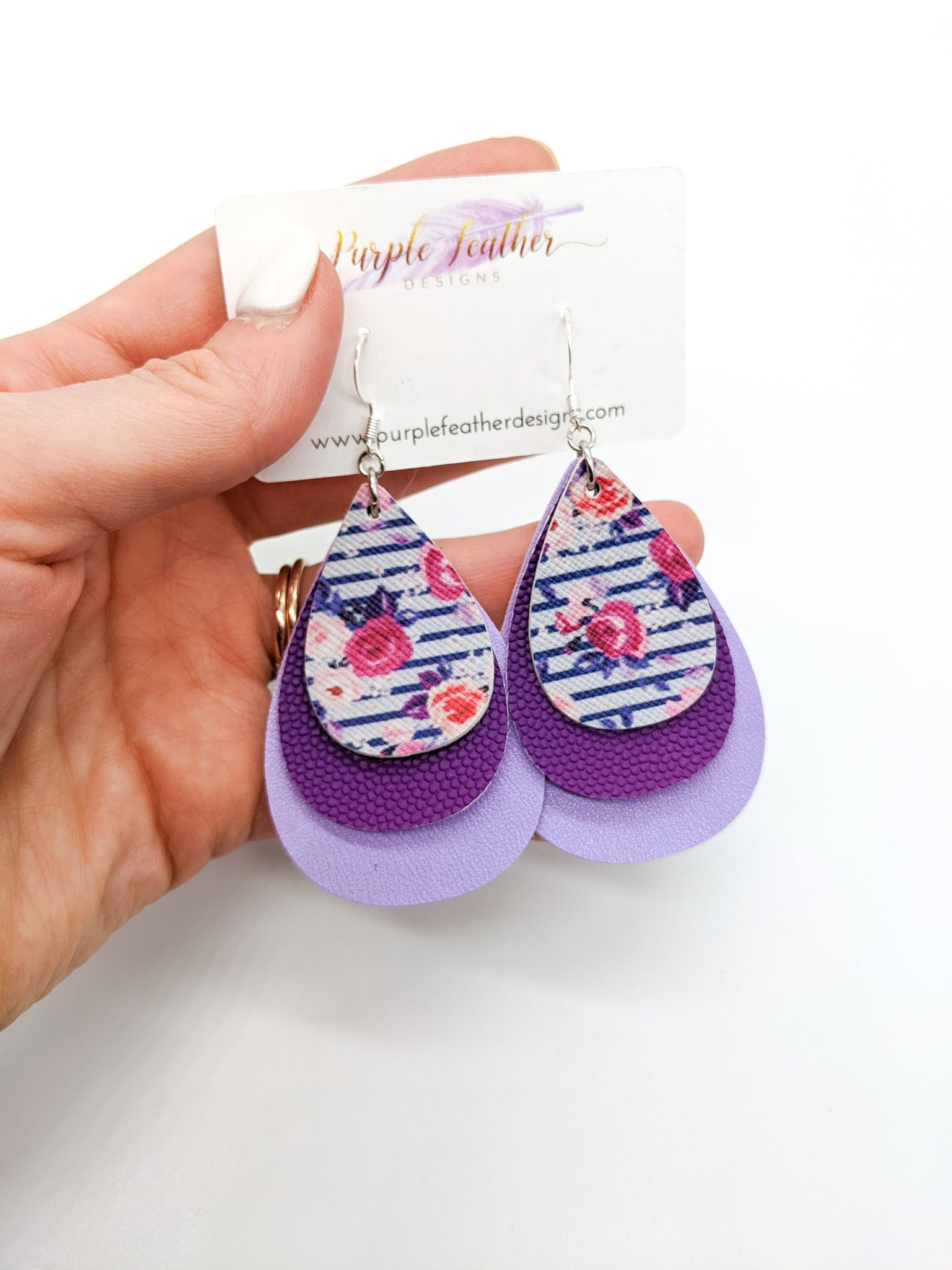 """For the Love of Purple"" Layered Teardrops"