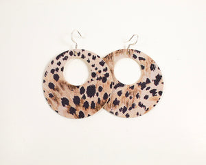Cheetah Print Open Disc Earrings