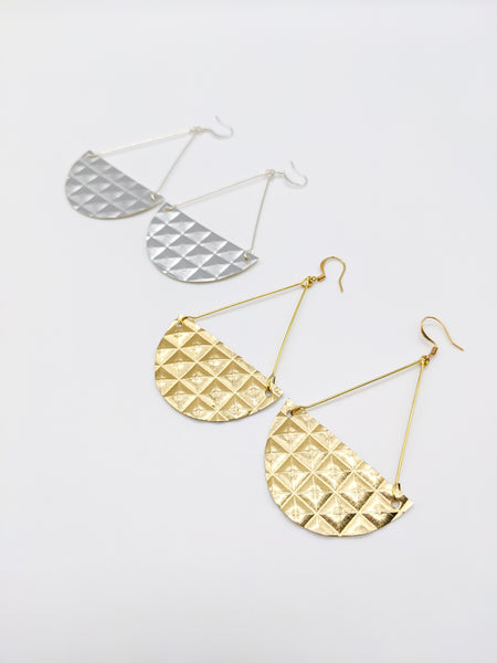 Gold OR Silver Metallic Triangle Drops