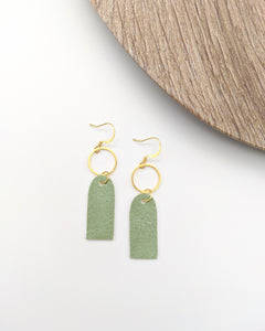 Sage Mini Tag Earrings