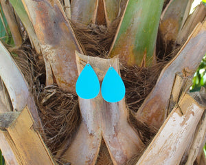 Bright Blue Teardrop Earrings