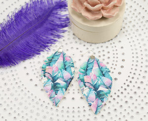 Palm Leaf Fringe Feather Earrings