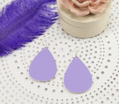 Lilac Teardrop Earrings