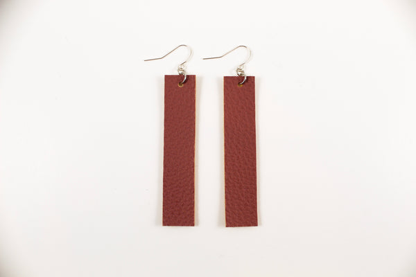 Mauve Bar Earrings