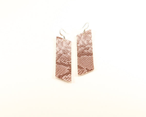 Stone Colored Bar Earrings