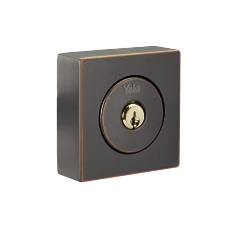 Flat Square Single Cylinder Mechanical Deadbolt_2