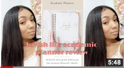LAVISH LIFE ACADEMIC PLANNER REVIEW