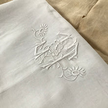 Load image into Gallery viewer, ELISE | Antique Embroidered Linen Bolster cover