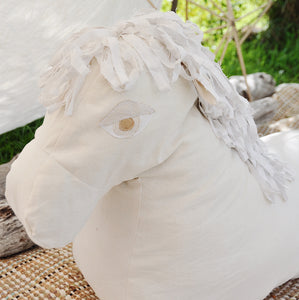 CLEO | Linen Horse, Freestanding Floor cushion