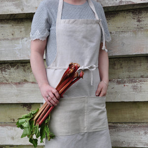 Simple Natural Linen Apron