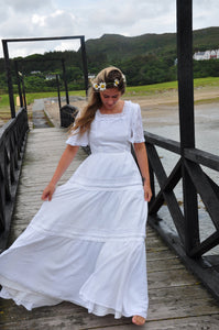 ESME | Vintage 1970s Cotton wedding dress