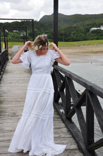 Load image into Gallery viewer, ESME | Vintage 1970s Cotton wedding dress