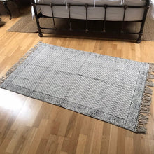 Load image into Gallery viewer, DHURRIE #3 | Handmade Block Printed Indian Cotton Rug