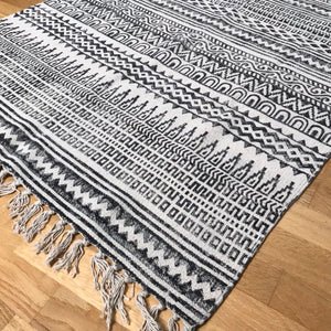 DHURRIE #4 | Handmade Block Printed Cotton Rug