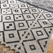 Load image into Gallery viewer, DHURRIE #5 | Handmade Block printed Cotton Rug