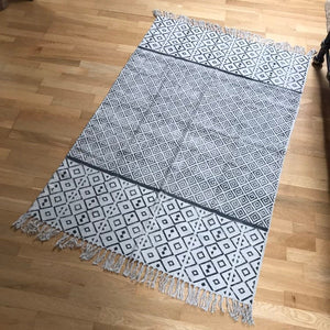 DHURRIE #5 | Handmade Block printed Cotton Rug