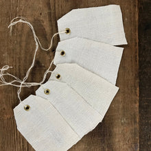 Load image into Gallery viewer, Antique Hemp Linen Gift tags, set of 5