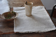 Load image into Gallery viewer, FÉLICE | Vintage Frayed Linen Placemats, set of 4