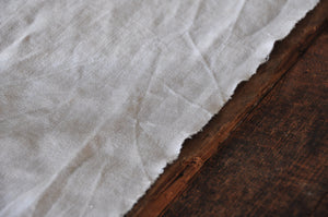 Antique Hemp Table runner, Raw edge