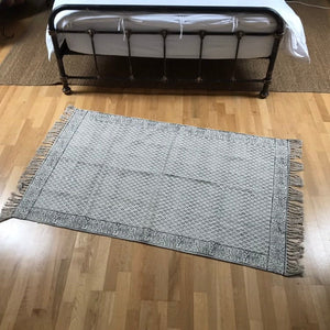 DHURRIE #3 | Handmade Block Printed Indian Cotton Rug