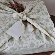 Load image into Gallery viewer, Furoshiki Fabric Gift Wrap - Green Stars
