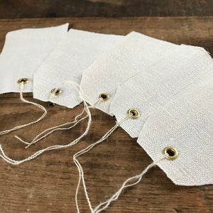 Antique Hemp Linen Gift tags, set of 5