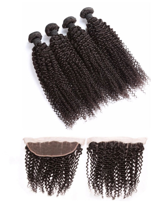 Kinky Curly Frontal + Bundle Deal