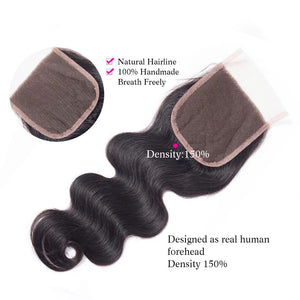 Brazilian Bodywave - HD Lace line closure + bundles