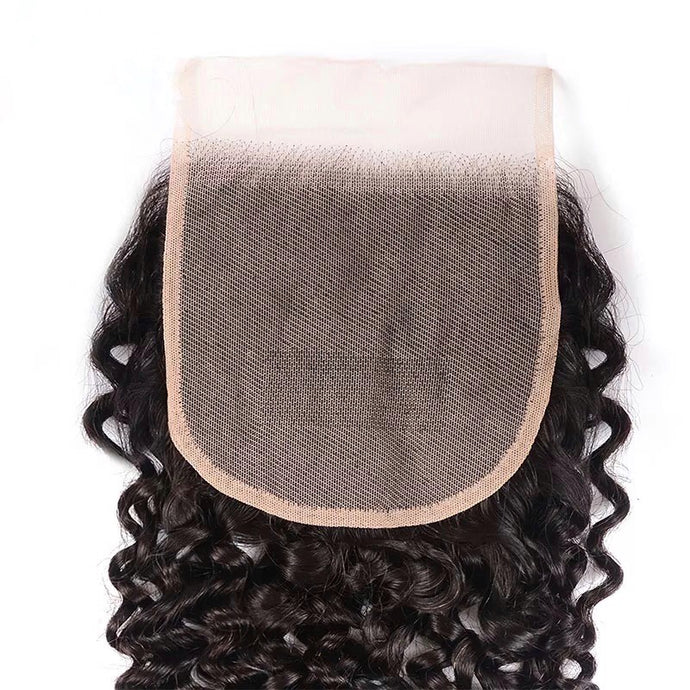 Malaysian Deep Curly - HD Lace line closure + bundles
