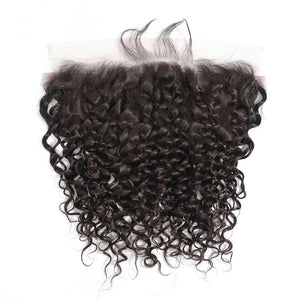 Malaysian Deep Curly - HD Lace line frontal + bundles