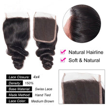 Load image into Gallery viewer, Indian Loose Wave - HD Lace line closure + bundles