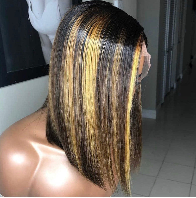 Transparent Highlighted Bob Wigs